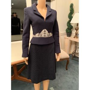 Chanel Wool Jacket and Skirt Suit Set